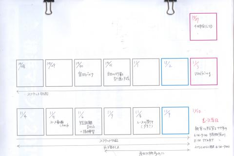 横浜マラソン2週間前、ランナーズを見てスケジュール組んでみました