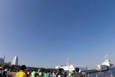 横浜マラソン、ゴール前は絶景でした